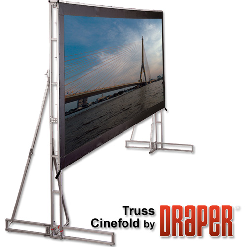 Large Screen Portable : Large ft draper cinefold screen for rent in